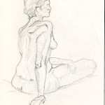 """Figure Drawing"" Pencil on Paper, 2009"
