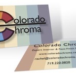 """Colorado Chroma Business Card SPEC"" 3.5""x2"", 2013"